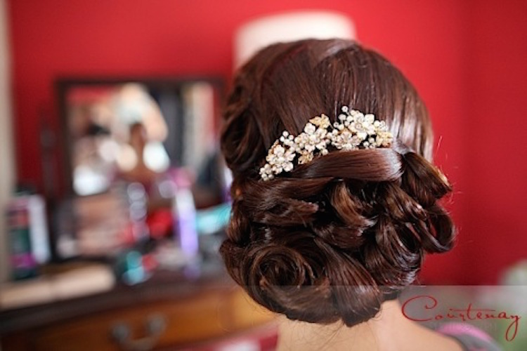 Vintage Bridal hair and Male up